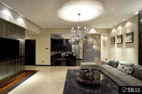 现代客厅电视机背景墙家庭室内装修