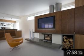 现代风格电视背景墙设计