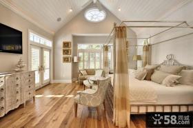 美式田园风格装修图 卧室图片