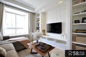 简约美式两居室电视背景墙装修案例