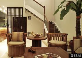 中式风格别墅室内效果图