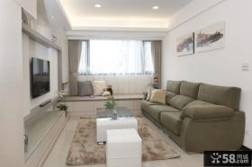 现代简约小三居客厅电视背景墙图片