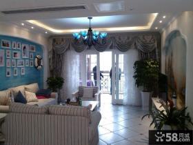 地中海风格小客厅吊顶图片