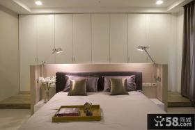 现代简约主卧室整体衣柜效果图