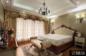 欧式复古风格设计卧室室内装修效果图
