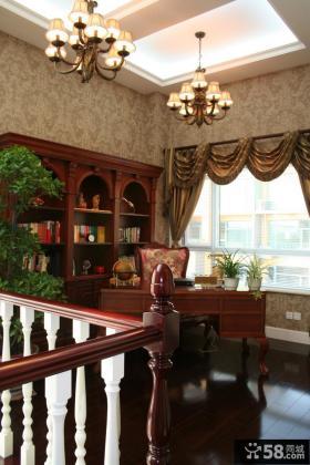 美式风格别墅书房装修效果图片