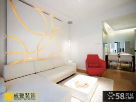 简约客厅沙发背景墙设计欣赏