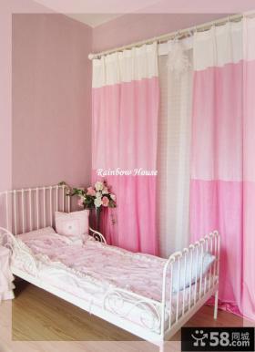 韩式浪漫窗帘三色拼接窗帘