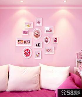 卡通风格少女房背景墙装饰设计