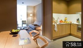 简约现代公寓室内厨房餐厅效果图片