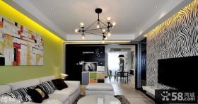 现代风格客厅影视背景墙装修效果图片大全
