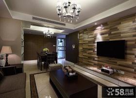 现代风格壁纸客厅电视背景墙图片欣赏