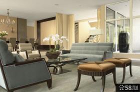 简欧风格复式客厅装修效果图大全2012图片