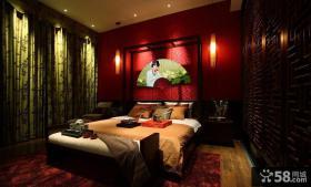 美式卧室背景墙装饰画