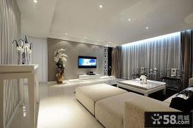 新中式客厅装修实景图片
