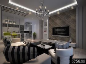 优质现代风格客厅电视背景墙装修效果图欣赏