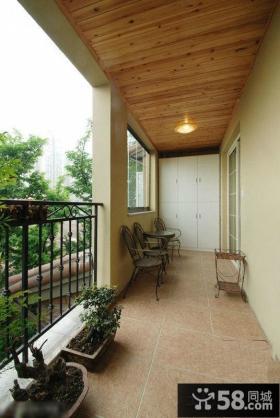 家居长方形阳台装修效果图