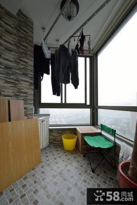 简约小复式阳台设计图片