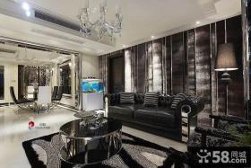 现代新古典风格客厅沙发背景墙设计