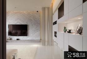 简约公寓室内电视背景墙装饰效果图