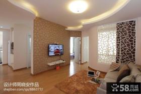现代家庭客厅电视背景墙效果图