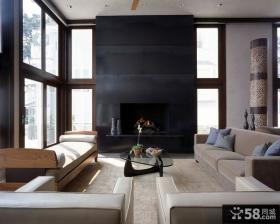 现代简约风格室内设计卧室背景墙效果图