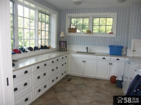 欧式L型开放式厨房图片