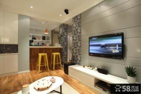 简约风格客厅电视背景墙设计图片