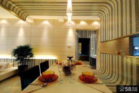 简约餐厅吊顶造型效果图