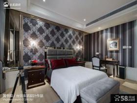 欧式风格卧室壁纸背景墙图案