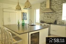 4万打造清新简约风格厨房橱柜装修效果图大全2014图片
