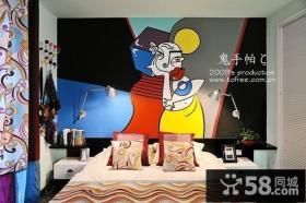 现代风格卧室抽象装饰画