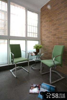 休闲现代生活阳台设计