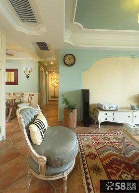 欧式风格客厅挂钟图片