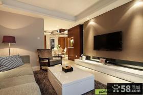 现代简约客厅影视墙效果图