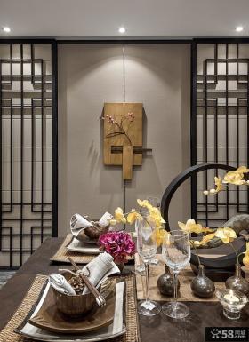 中式家居餐厅墙面装饰图片欣赏