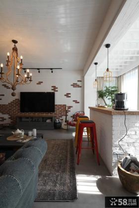 美式风格三居室创意设计图2015