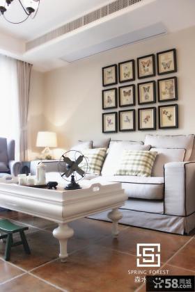简欧式沙发背景墙效果图