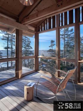 休闲家居阳台装修设计效果图