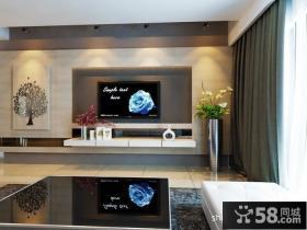 优质简约客厅电视背景墙装修效果图大全2013图片欣赏
