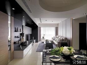 现代风格室内客厅餐厅吊顶装修图