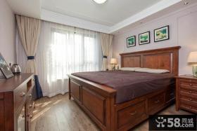 美式风格80平米小户型卧室装修