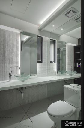 现代简约卫生间瓷砖装修图片