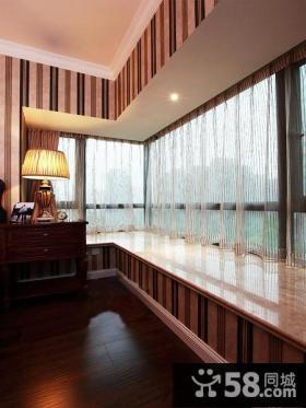 卧室转角飘窗设计效果图大全2014