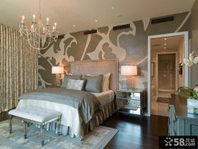 北欧卧室墙纸装饰效果图