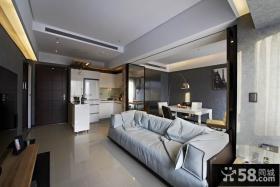 现代风格50平米小户型家装案例