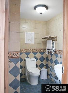 地中海风格复式卫生间设计效果图