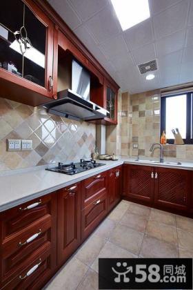 美式设计6平米厨房图