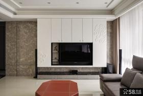 现代风格电视背景墙装饰设计效果图