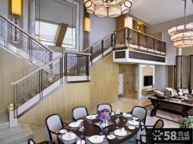 美式新古典风格餐厅装修效果图大全2014图片